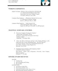Examples Of Resumes With No Experience Resume Pro