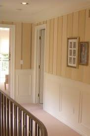 Painted wood paneling wall treatment-would love to do this in our hallway