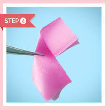 Paper Ribbon Flower How To Make Ribbon Flower 10 Steps