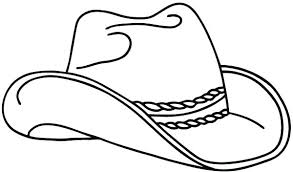 Cowboy Boots Coloring Pages Hat And Page Mofasselme