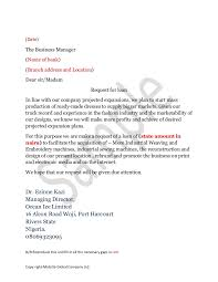 Bank Loan Cover Letter Template How To Write A Loan Application