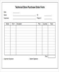 Purchase Order Format Doc Purchase Order Form Sample 8 Examples In Word Pdf