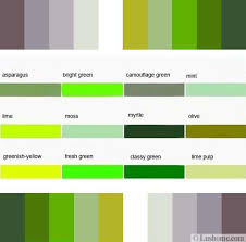 2. Green color names and fresh color combinations