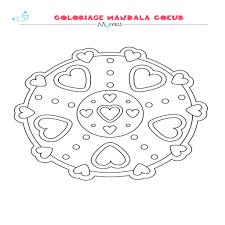 Dessin Mandala Coeur Download Coloriage En Ligne Gratuit