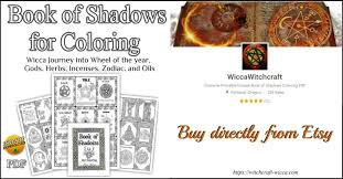 book of shadows for coloring pdf wicca journey