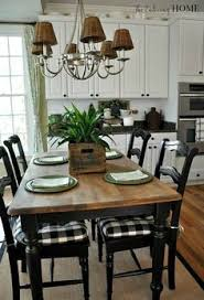 talks about reclaim paint she used and ms mustard seed hemp oil for the top kitchen chair cushionskitchen table