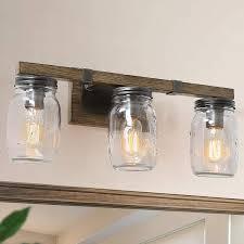 Where To Buy Bathroom Light Fixtures Lnc Bathroom Light Fixtures Farmhouse Bathroom Vanity Lights Mason Jar Lights 3 Lights Bathroom Lighting