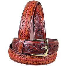 40 x1 1 2 3d brown fl mens western fashion leather belt removable buckle