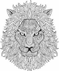 Small Picture Lion Coloring pages Printable Adult Coloring book Lion Clip Art