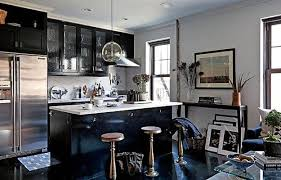Modern kitchen design, decorating ideas, materials and kitchen colors in  masculine style