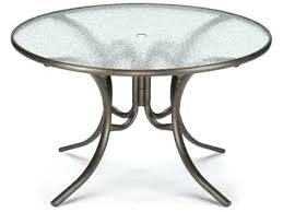 48 round glass table top telescope casual glass top round dining table with umbrella hole 48