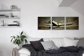 vintage airplane wall decor