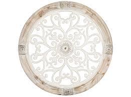 round swirl wood cutout wall decor