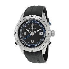 nautica nst 550 tide compass black dial men s watch n21032g