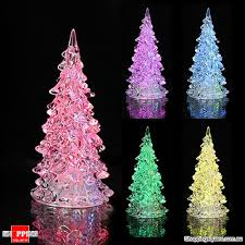 Icy Crystal Colourful Table Lamp Light Decoration Christmas Tree