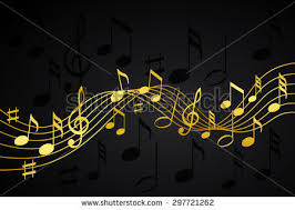 black background design music. Unique Black Gold Music Notes On A Solid Black Background With Black Background Design Music