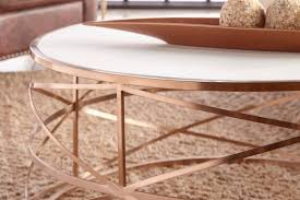 round gold coffee table modern furniture