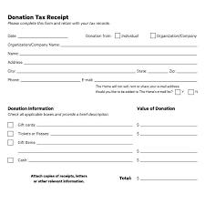charitable contribution receipt letter tax receipts for charitable donations receipt for charitable