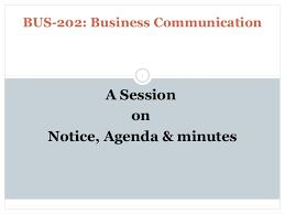 Agenda Business Notice Agenda Minutes