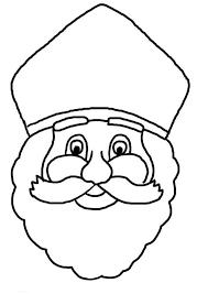 Sinterklaas Hoofd Kleurplaat Peuters