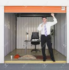 storage units for office. Storage Unit Office. Businessman Getting Ready To Sleep In Office Stock Photo - Units For A