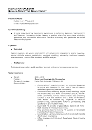 Petroleum Engineer Resume