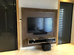 wall mounted tv cabinet by tarique anwar