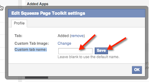 if you want to change where the tab appears as the tab names need to be fairly short then go back to your facebook page