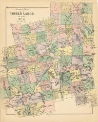 Stuarts Maps Of The Timber Lands Of Maine No 6 Moosehead