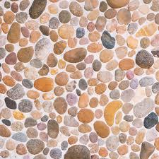pebble stone floor tile texture stock photo