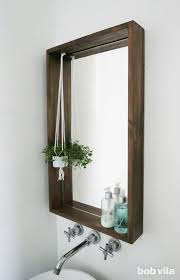 how to frame a bathroom mirror with a
