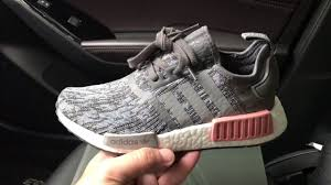 adidas shoes nmd grey and pink. nmd r1 heather grey raw pink womens sneaker adidas shoes nmd and