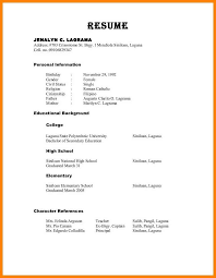 Resume Templates With References References On Resume Format Reference For Character Examples Page 17