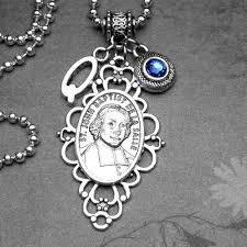 details about teachers patron saint john baptist de la salle medal pendant birthstone necklace