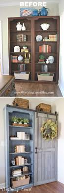 diy furniture makeover. DIY Bookcase Makeover With A Sliding Door Diy Furniture