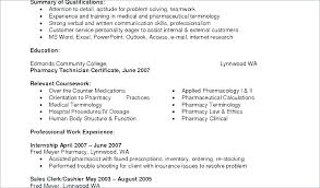 Objective For Pharmacy Technician Resume A Fine Example Examples Inspiration Objective On Resume For Pharmacy Technician