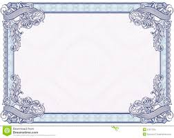 blank certificates blank diploma or certificate stock vector illustration of currency