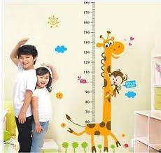 Details About Giraffe Baby Kid Room Decor Height Ruler Measure Chart Wall Sticker Decal Pvc N7