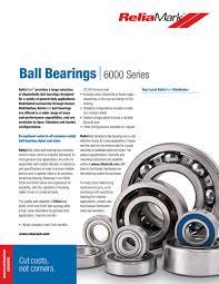6200 Bearing Size Chart Kaman Distribution Reliamark 6 000 Series Ball Bearings