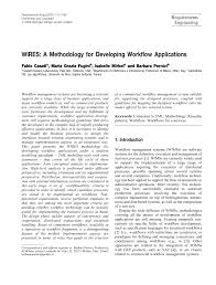 Pdf Wires A Methodology For Developing Workflow Applications