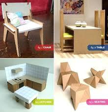 dollhouse furniture modern. Contemporary Dollhouse Modern Dollhouse Furniture Cardboard Chair 2 Dining Table  3 Kitchen   For Dollhouse Furniture Modern
