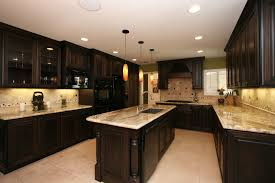 dark kitchen cabinets. Kitchen:Likable Dark Wood Kitchen Cabinets Wall Color Cabinet Ideas With White Appliances Floors Island S
