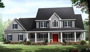 ... Two Story House Plans with Veranda Inspirational Likeable House Plans  with Porches Wrap Around Two Story ...