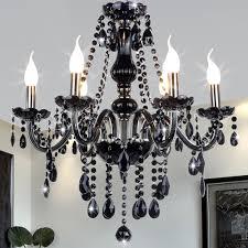 black modern crystal chandelier e14 candle holder novelty classic luxury chandelier wedding decorative light lighting fixtures candle decorative modern pendant lamp