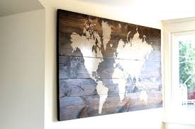 sign wall art map of the world custom wooden brown scraps price large personalized popular types on custom wood wall art decor with wall art designs wall art map of the world decor poster large
