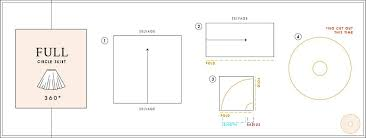 Circle Skirt Chart Circle Skirt Calculator Mood Fabrics
