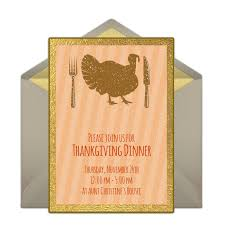 Free Online Thanksgiving Invitations Free Turkey Dinner Invitations Thanksgiving Celebrations