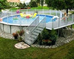 home swimming pools above ground. Landscape Around The Pool Get Inspired Best Above Ground Designs Desert Design Home Swimming Pools