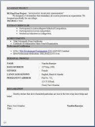 Resume Format For Freshers For Bpo Jobs
