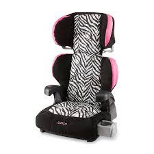cosco to booster car seat zebra striped